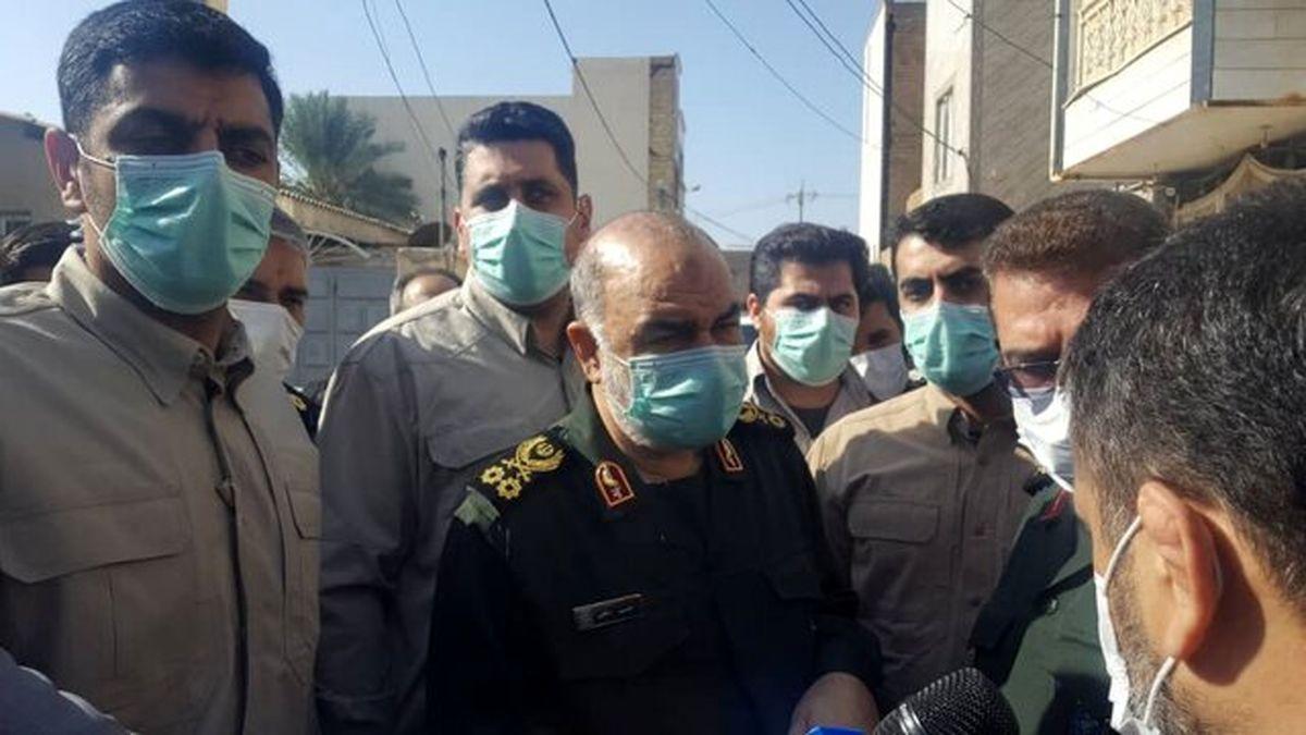 تاکید سردار سلامی بر حل مشکلات مردم خوزستان