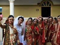 عروسی دسته جمعی در هند +تصاویر