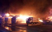 آتش سوزی کارخانه تولید ادویه +تصاویر