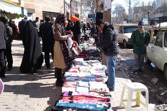استقرار برخی اصناف در پیادهروهای تهران