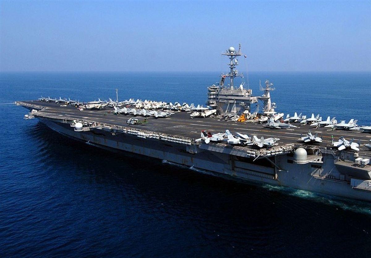 ناو هواپیمابر آمریکا وارد خلیج فارس شد