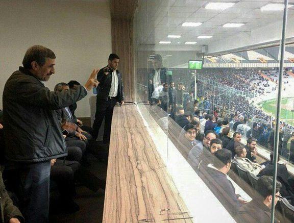 حضور محمود احمدینژاد در آزادی +عکی