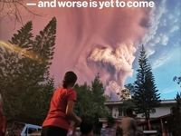فوران آتشفشان به زودی در فیلیپین