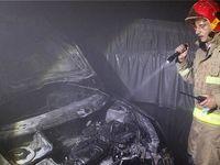 آتشسوزی خودرو ساختمان ۱۱ طبقه را محو کرد +تصاویر