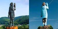 مجسمه جدید ملانیا ترامپ که نسوز است! +عکس