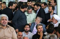 شخصیتها در ختم والده حاج منصور ارضی+تصاویر