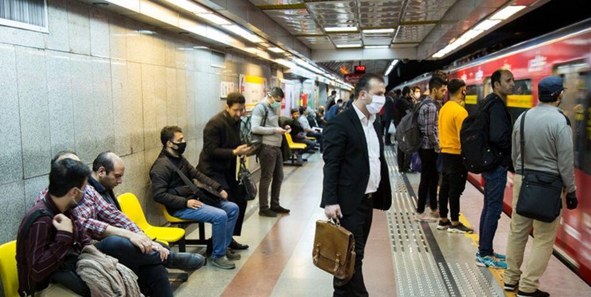 مترو سواری به وقت کرونا!