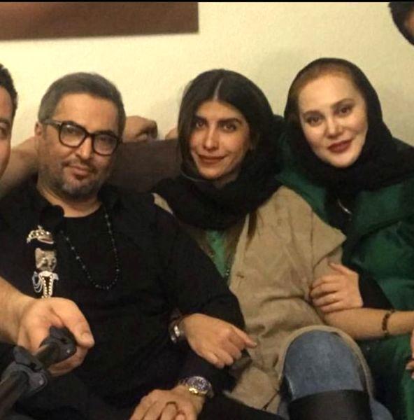مرحوم مهرداد میناوند در کنار همسرش + عکس