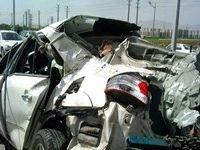 تصادف در بزرگراه تهران-قم دو کشته برجای گذاشت