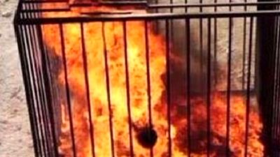 داعش ۱۰ غیرنظامی را سوزاند