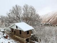 نخستین برف پاییزی در ییلاقات گیلان +تصاویر