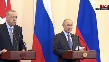 اردوغان: به توافقی تاریخی با روسیه برای جلوگیری از تقسیم سوریه رسیدیم