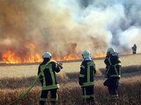 آتش بازی صاعقه در مزرعه ۲۵هکتاری