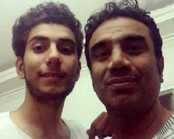 نصرالله رادش در کنار پسرش؛ پرهام +عکس