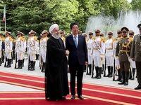 استقبال رسمی حسن روحانی از نخست وزیر ژاپن +تصاویر