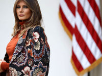 ملانیا ترامپ همسر خود را تنها گذاشت +عکس