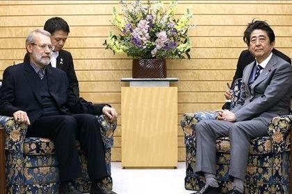 دیدار علی لاریجانی با نخست وزیر ژاپن +تصاویر