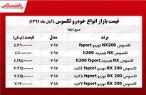 قیمت لکسوس در بازار تهران +جدول