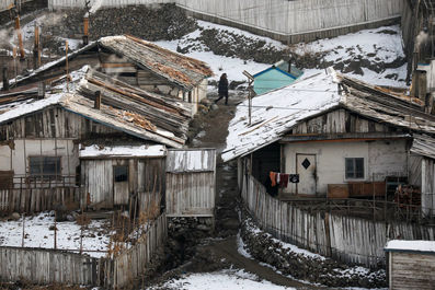 نگاهی به کره شمالی از مرز چـین