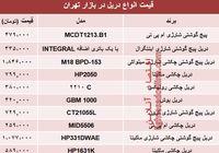 قیمت انواع دریل در بازار تهران؟ +جدول