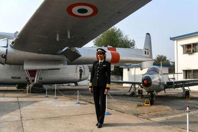 خلبان هندی هواپیمای Boeing 777 آنی دیویا در موزه دهلی نو