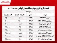 قیمت موتورهای لوکس بازار پایتخت +جدول