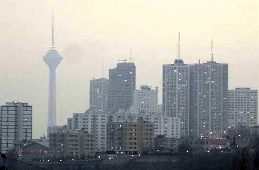 افزایش ذرات معلق و آلاینده ازن در هوای تهران