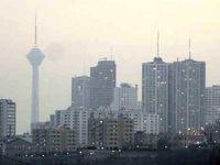 غلظت ذرات معلق در تهران بالا میرود