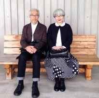 زوج خوشتیپی که ۳۷ سال لباسهایشان را با هم ست کردند +عکس