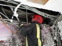 نجات ۳۰مسافر در پی آتشسوزی یک مجتمع اقامتی