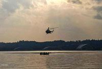 پیدا شدن ۳ سرنشین بالگرد سقوط کرده در خلیج فارس