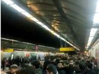شعار مرگ بر آمریکای در متروی تهران +فیلم
