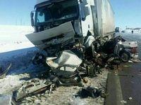 تصادف مرگبار پژو با تریلی +عکس
