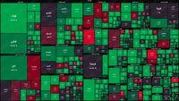 نقشه بورس امروز بر اساس ارزش معاملات/ آغاز هفته با سبزپوش شدن بازار