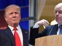 شادی ترامپ از پیروزی جانسون در انتخابات انگلیس