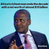 پولدارترین فرد آفریقا امسال چقدر به ثروت خود افزود؟
