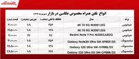 قیمت انواع موبایل ویژه عکاسی در بازار +جدول