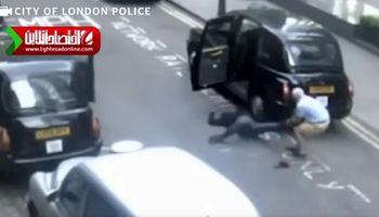 راننده تاکسی که مردی را در جاده رها کرد! +فیلم