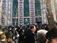 مراسم پرحاشیه تشییع همسر دکتر شریعتی +تصاویر