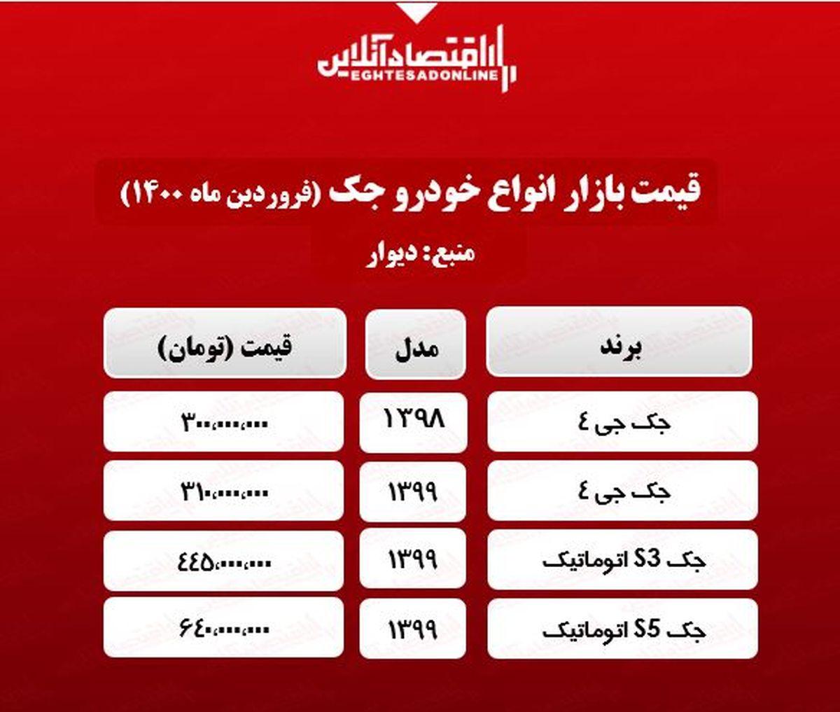 جدیدترین قیمت جک در پایتخت +جدول