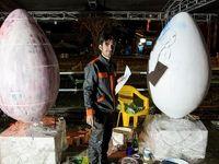 جشنواره تخممرغهای تزئینی نوروز در قزوین +تصاویر
