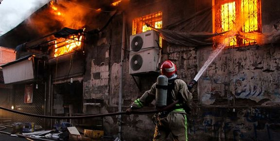 آتش سوزی یخچال در پردیس سینمایی زندگی