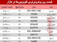 قیمت انواع پرفروشترین تلویزیون دربازار ؟ +جدول