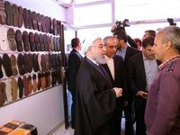 حضور سرزده روحانی در بازار کفش تبریز