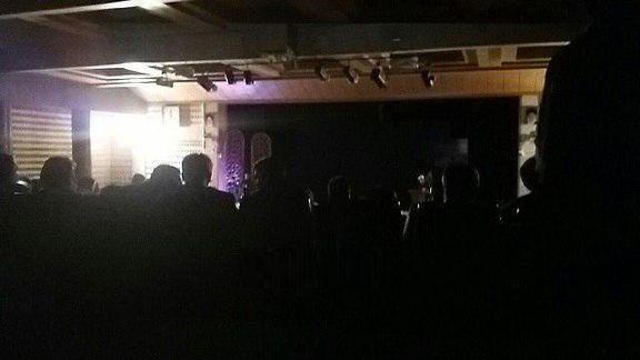 قطع برق در حین سخنرانی رییسجمهور در قزوین