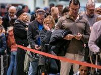 صف آمریکاییها برای خرید اسلحه در پی شیوع کرونا +فیلم