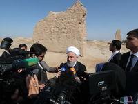 بازدید روحانی از آثار تاریخی و مذهبی شهر مرو