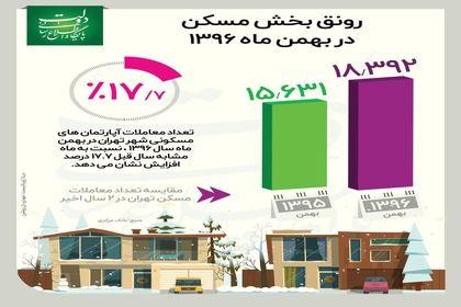 رونق بازار مسکن در بهمن ماه +اینفوگرافیک