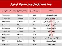 قیمت آپارتمان نوساز سه خوابه در شیراز +جدول