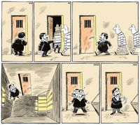 سعید مرتضوی در اوین! (کاریکاتور)